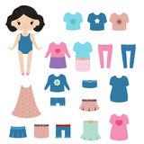Paper doll. Stock Images