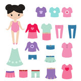 Paper doll. Stock Photography
