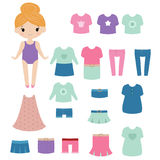 Paper doll. Stock Photo