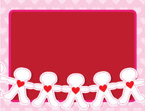 Paper Doll Hearts Royalty Free Stock Image