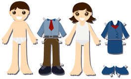Paper Doll Kids Royalty Free Stock Photography