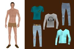Paper doll - Man royalty free illustration