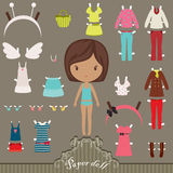 Paper doll outfits Stock Photo