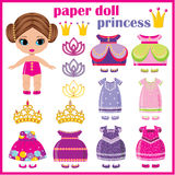 Paper doll princess . Royalty Free Stock Photography