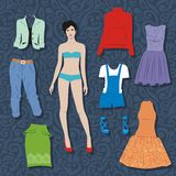 Paper doll Royalty Free Stock Images