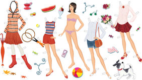 Paper doll Stock Images