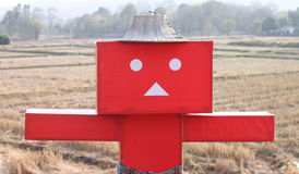 Paper Dolls Square red background field. Stock Photos