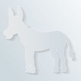 Paper donkey. Silhouette of a donkey in paper cut style Royalty Free Stock Photos