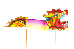 Paper Dragon Puppet Figurine Royalty Free Stock Image
