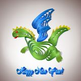 Paper dragon-simbol Stock Photography
