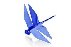 Paper Dragonfly. Royalty Free Stock Photo