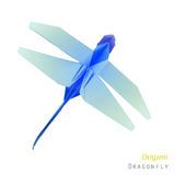 Paper dragonfly Royalty Free Stock Images