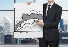 Paper with drawing chart Stock Photos
