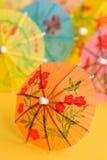 Paper drink umbrellas Royalty Free Stock Photos