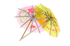 Paper drink umbrellas Royalty Free Stock Photos