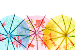 Paper drink umbrellas Royalty Free Stock Images