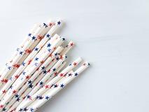 Paper drinking straws Stock Image