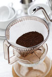 Paper drip coffee Royalty Free Stock Images
