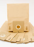 Paper dust bags for vacuum cleaner Royalty Free Stock Photos