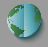 Paper earth globe Stock Photography