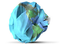 Paper earth illustration Royalty Free Stock Photo
