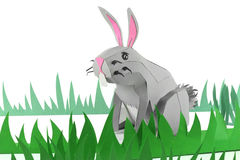 Paper Easter Bunny Stock Images