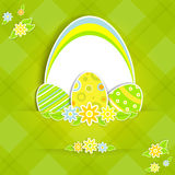 Paper easter card Royalty Free Stock Images