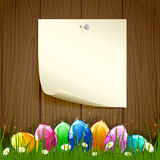 Paper and Easter eggs Royalty Free Stock Photography