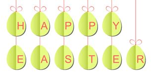 Paper Easter eggs strings Stock Photography