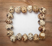 Paper and Easter quail eggs Stock Photo