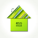 Paper eco house Stock Image