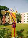 Paper effigy of Ravan stuffed with fireworks Stock Photography