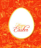 Paper egg card Stock Images