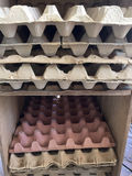 Paper egg crates Royalty Free Stock Images