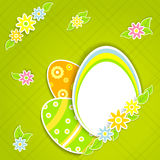 Paper eggs Stock Photography