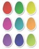 Paper eggs. Colored paper eggs. Vector illustration Royalty Free Stock Photos