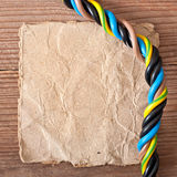 Paper and electrical cable Royalty Free Stock Image