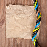 Paper and electrical cable Stock Photography
