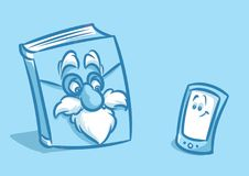 Paper electronic book cartoon Stock Images