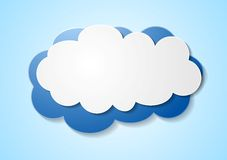 Paper elegant cloud sticker Stock Photography