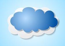 Paper elegant cloud sticker Stock Image