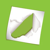 Paper element rip hole Stock Photos