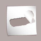 Paper element torn hole Royalty Free Stock Photo
