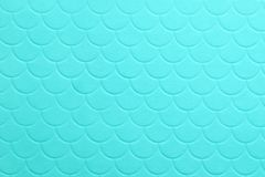 Paper embossing fish scales seamless texture. tiffany color background.  stock images