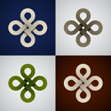 Paper endless celtic knots Royalty Free Stock Image