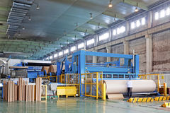 Paper enterprise production line. In china Stock Photography