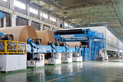 Paper enterprise production line. In china Stock Photos
