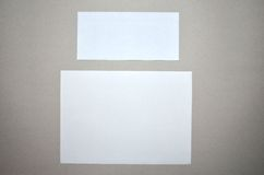 Paper and envelope Stock Photo