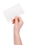 Paper envelope in his hand of man Royalty Free Stock Photo