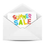 Paper envelope with Sale Royalty Free Stock Photo